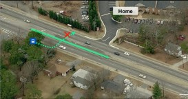 Picture with notations about place where boy was killed by drunk driver